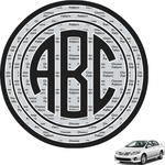 Circle Monogram Car Decal