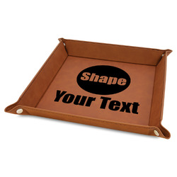 Faux Leather Valet Tray