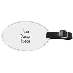 Genuine Leather Oval Luggage Tags