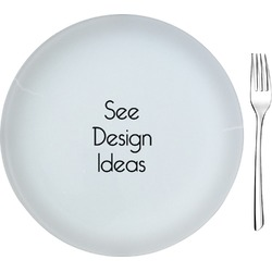 "Glass Appetizer / Dessert Plates 8"" - Single or Set"