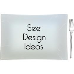 Glass Rectangular Appetizer / Dessert Plates - Single or Set