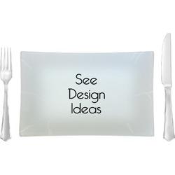 Glass Rectangular Lunch / Dinner Plates - Single or Set