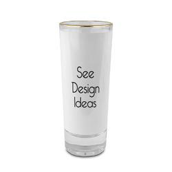 2 oz Shot Glass - Glass with Gold Rim