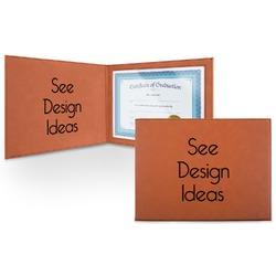 Leatherette Certificate Holder