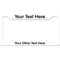 License Plate Frame - Style B