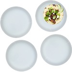 Set of 4 Lunch / Dinner Plates (Glass)