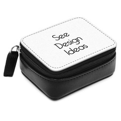Small Leatherette Travel Pill Case