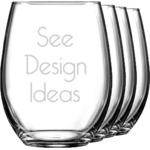 Wine Glasses (Stemless Set of 4)