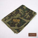 Embroidered Army Camo Baby Blanket