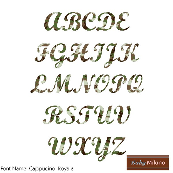 Camo Iron On Letters | RNK Shops