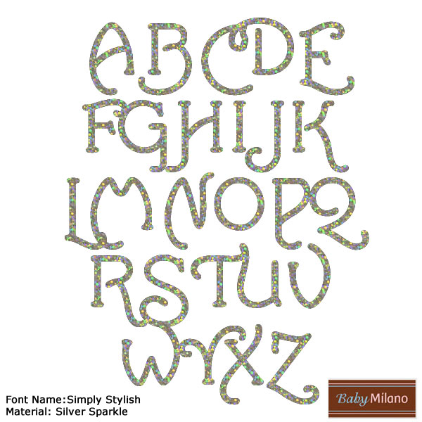 Sparkle Iron On Letters | RNK Shops