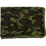 Baby Receiving Blanket by Baby Milano- Green Camo