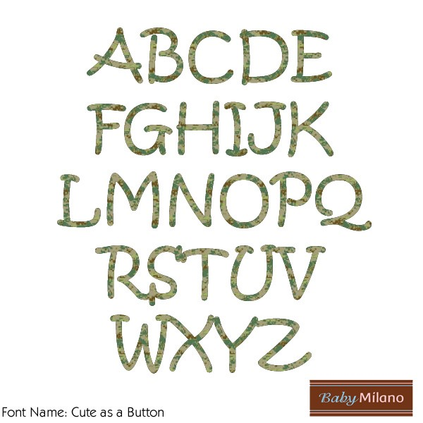 Iron Font Letters Camo Iron on Letters