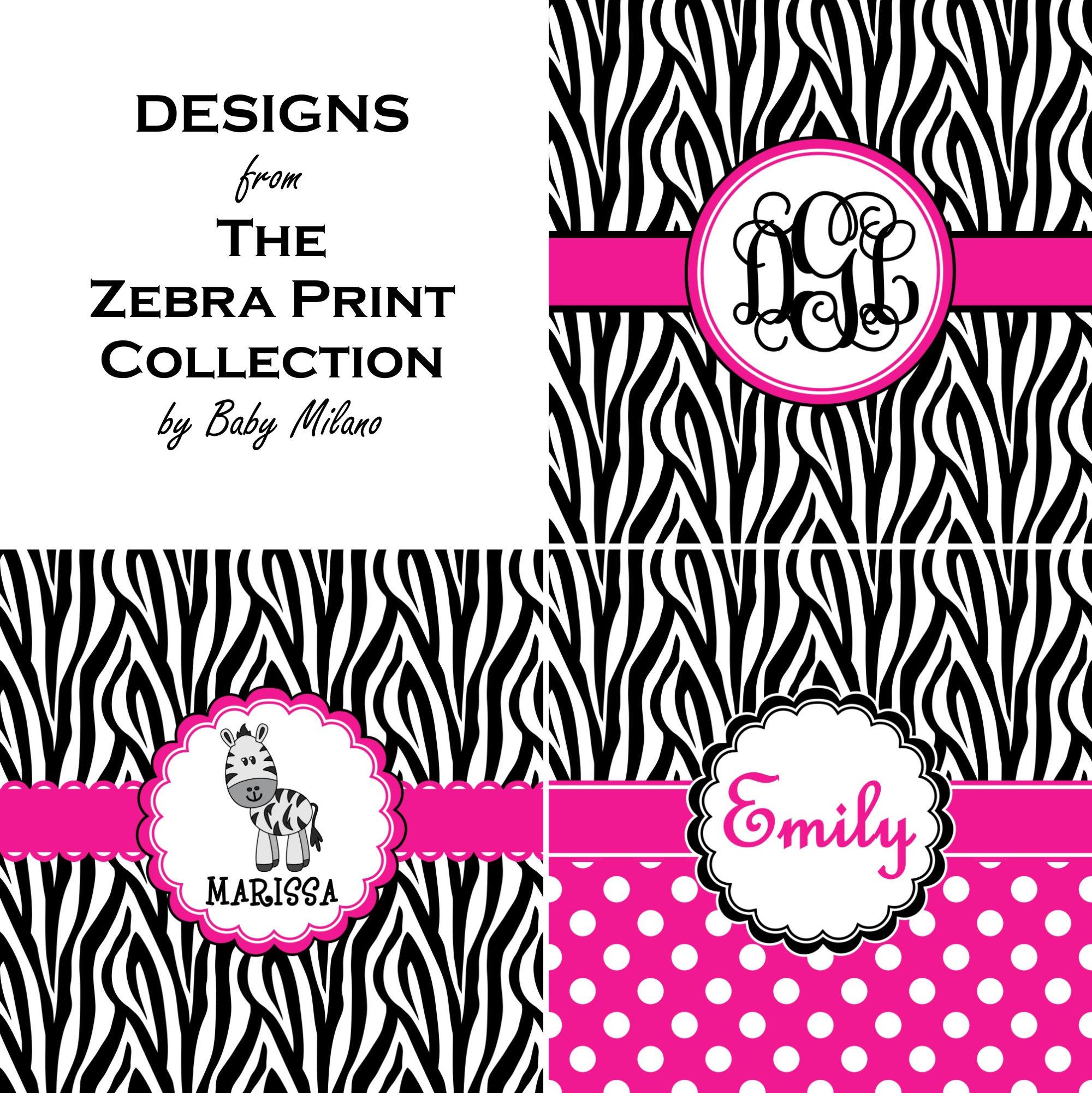 de9e07f44 Zebra Print Tissue Box Cover (Personalized) - YouCustomizeIt