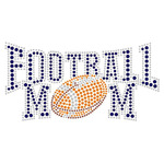 Football Mom Rhinestone Iron On