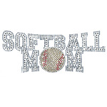 Rhinestone Softball Mom Iron On
