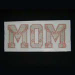 Base Ball Mom Letters Iron On Transfer