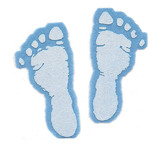 Iron On Transfer - Blue Baby Feet