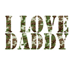 I Love Daddy - Camo Iron On Transfer
