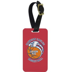 Dawson Basket Ball Aluminum Luggage Tag (Personalized)