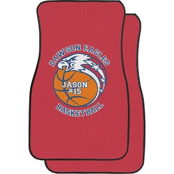 Dawson Basket Ball Car Floor Mats (Front Seat) (Personalized)