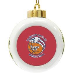 Dawson Basket Ball Ceramic Ball Ornament (Personalized)