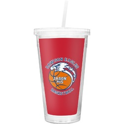 Dawson Basket Ball Double Wall Tumbler with Straw (Personalized)