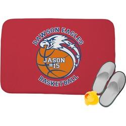 Dawson Basket Ball Memory Foam Bath Mat (Personalized)