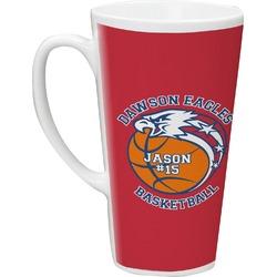 Dawson Basket Ball Latte Mug (Personalized)