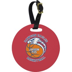 Dawson Basket Ball Round Luggage Tag (Personalized)