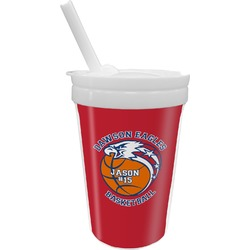 Dawson Basket Ball Sippy Cup with Straw (Personalized)