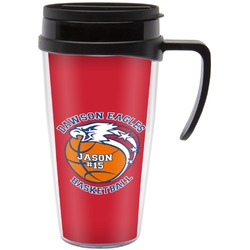 Dawson Basket Ball Travel Mug with Handle (Personalized)