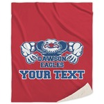 Strong Dawson Eagle Sherpa Throw Blanket (Personalized)