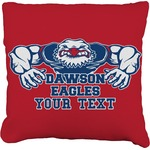 Strong Dawson Eagle Burlap Throw Pillow (Personalized)