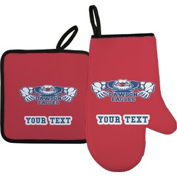 Strong Dawson Eagle Oven Mitt & Pot Holder (Personalized)