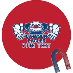 Strong Dawson Eagle Round Magnet (Personalized)