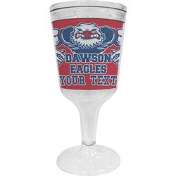 Strong Dawson Eagle Wine Tumbler - 11 oz Plastic (Personalized)