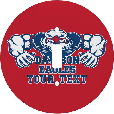 Strong Dawson Eagle Round Light Switch Cover (Personalized)