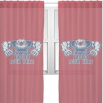 Strong Dawson Eagle Sheer Curtains (Personalized)