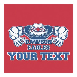 Strong Dawson Eagle Square Decal - Custom Size (Personalized)