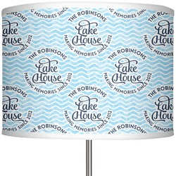 "Lake House #2 13"" Drum Lamp Shade (Personalized)"