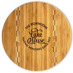Lake House #2 Bamboo Cutting Board (Personalized)