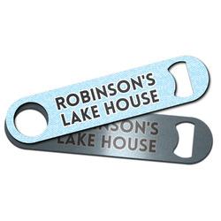 Lake House #2 Bar Bottle Opener w/ Name All Over