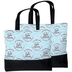 Lake House #2 Beach Tote Bag (Personalized)