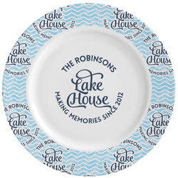 Lake House #2 Ceramic Dinner Plates (Set of 4) (Personalized)