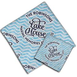 Lake House #2 Cloth Napkin w/ Name All Over