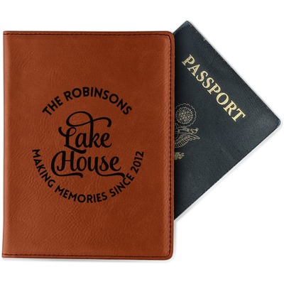 Lake House #2 Passport Holder - Faux Leather (Personalized)