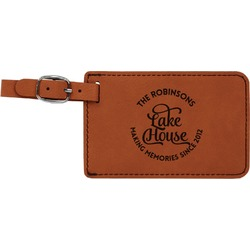 Lake House #2 Leatherette Luggage Tag (Personalized)
