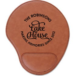 Lake House #2 Leatherette Mouse Pad with Wrist Support (Personalized)