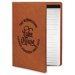 Lake House #2 Leatherette Portfolio with Notepad - Small - Single Sided (Personalized)